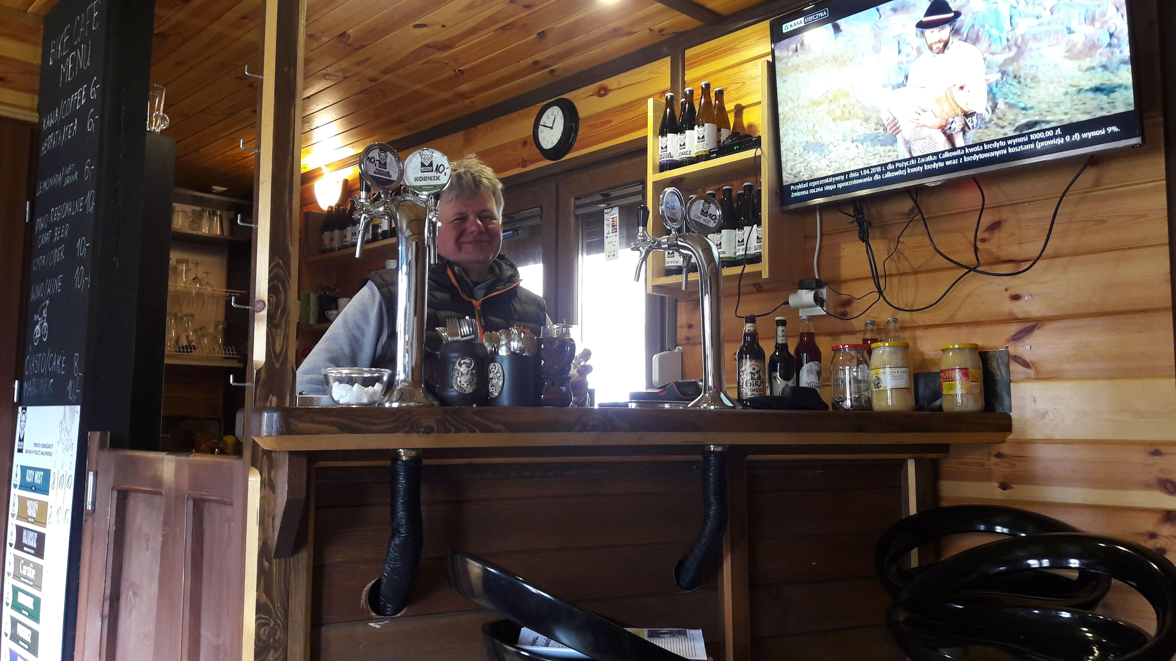 Slavomir, Kawa Bike Café, Bialowieza