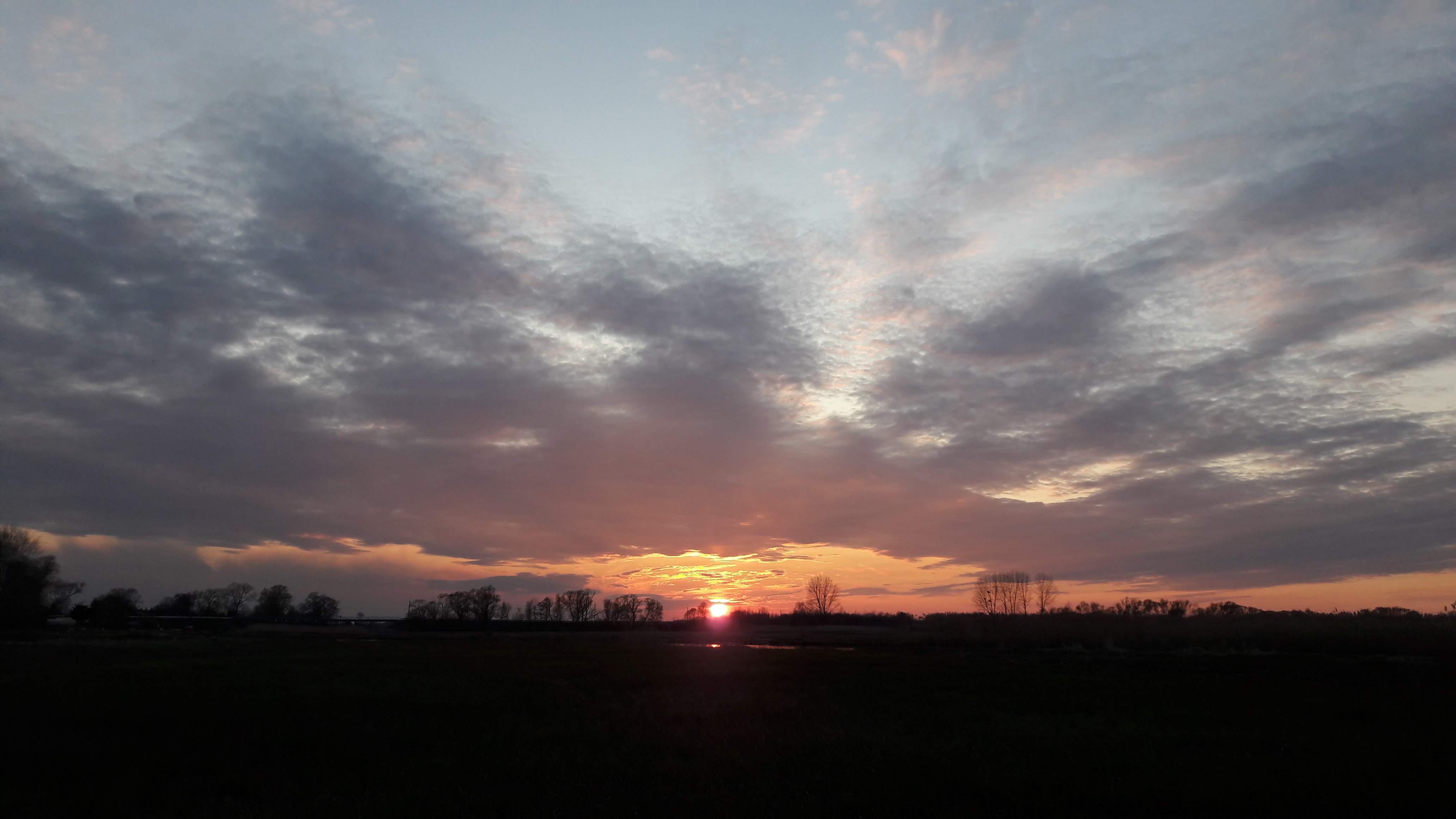 Goniadz, Parc Biebrzanski, Marais de la Biebrza, coucher de soleil